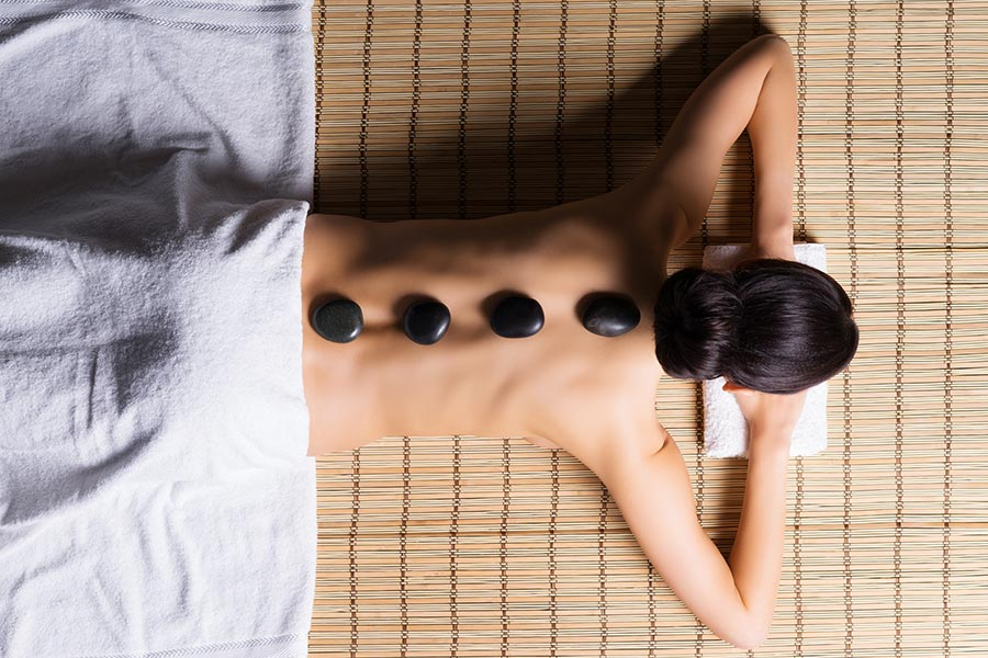 Hot stone massage at home in Sydney